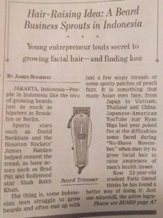 Minoxidil Beard WSJ Article