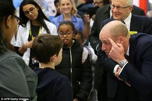 Prince William Shaved Head Closeup