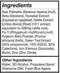 DHT Blocker Ingredients.
