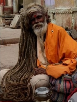 Sadhu with Long Hair